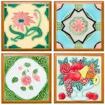 Adesivo Tipo Azulejo Porcelana / Banheiro Cozinha / 10 Cm