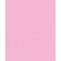 Adesivo De Parede Tecido Poa Rosa Bebe - 45 X 1 Metro