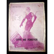 Partitura Antiga Música Love Me Forever Acordeon