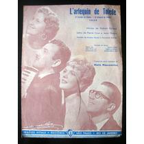 Partitura Antiga Música Dama Espanhola Acordeon