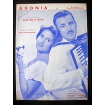 Partitura Antiga Música Agonia Bolero Acordeon