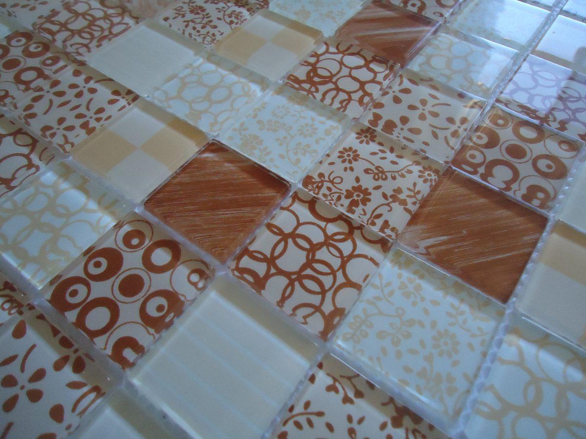 Pastilha De Vidro Decorada / Mosaicos revestimentos cristal R$ 14 85  #0C74BF 1200 900
