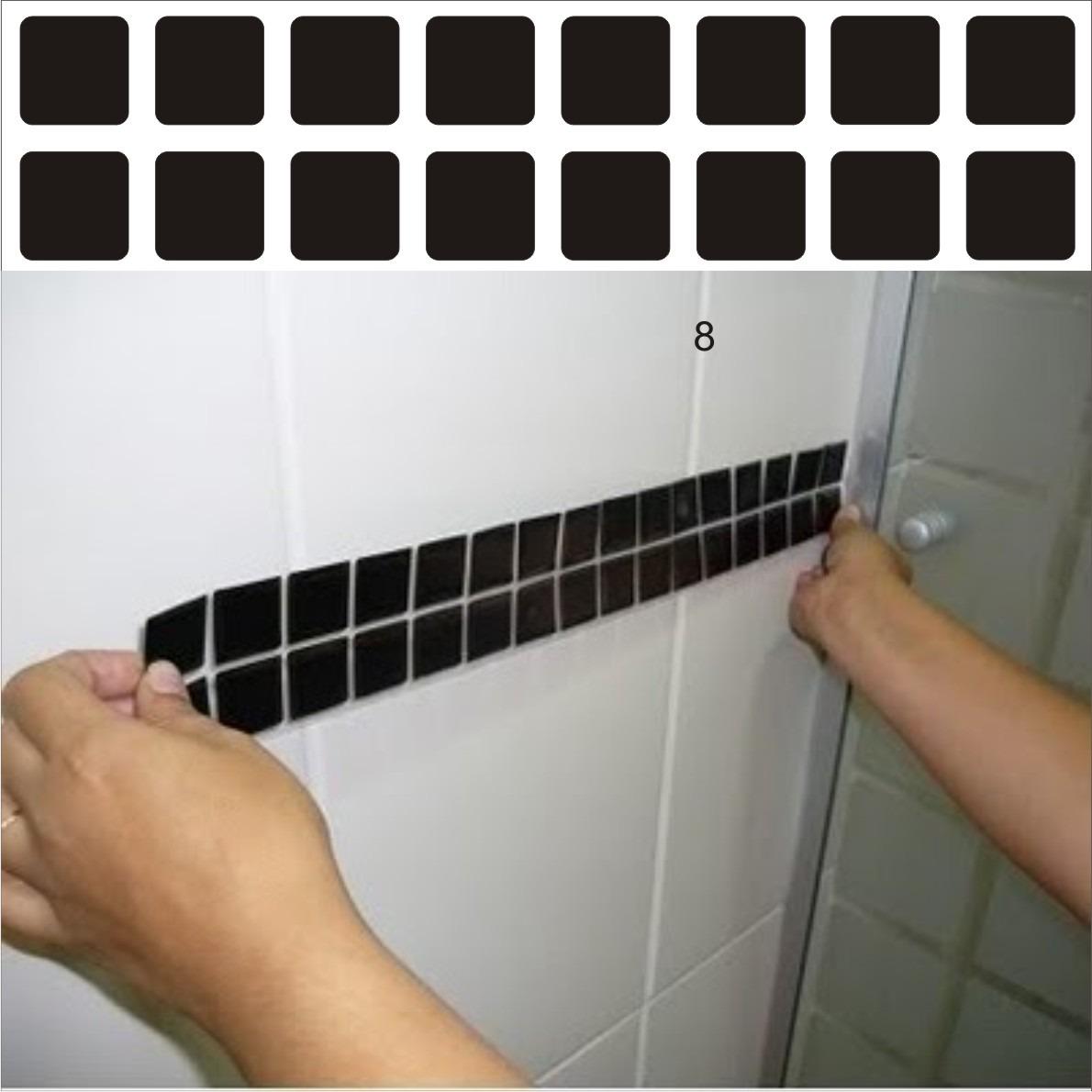 pastilhas adesivos para banheiro decora o de cozinha pastilhas Car  #8C623F 1190x1190 Banheiro Com Azulejo Tipo Pastilha