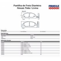 Pastilha De Freio Dianteira Nissan Tiida E Livina Fras-le