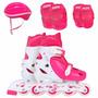 Roller Kit Infantil Capacete Joelheira Cotoveleira 31-34 Mor