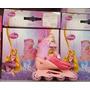 Patins Ajustáveis Rosa Enrolados Disney 31 32 33 34 35 36 37