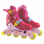 Patins Infantil 4 Rodas N°34 A 37 C/kit Proteção Rosa