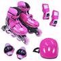 Patins Sports Super Radical C Kit De Proteção Completo 34 37