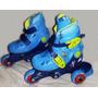 Patins Ajustáveis Tri-line - Azul + Kit De Segurança - 26/29