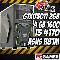 Pc Gamer Gtx 750ti 2 Gb- I3 4170 - Asus H81m-c/br-4 Gb-500hd
