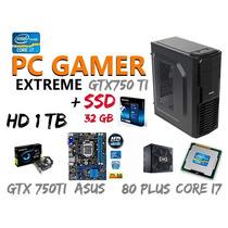 Pc Gamer I7 3770 Geforce Gtx750ti Ssd32 + Sata1tb