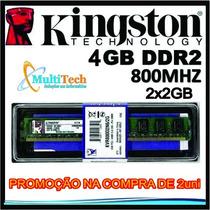 Memória Ram Kingston Ddr2 4gb 2x2gb 800mhz