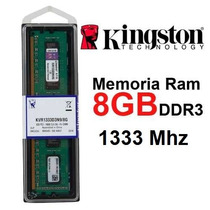 Memoria 8gb Ddr3 1333mhz Kingston Kvr1333d3n9/8g - Desktop
