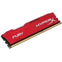 Memória 4gb 1600mhz Ddr3 Kingston Hyperx Fury Red Pc3 12800