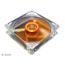 Fan Akasa Ultra Silencioso Ultra Quiet 120x120x25 Mm - Amber