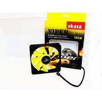 Cooler Fan Ventoinha Akasa Viper 12 Cm Gabinete Gamer