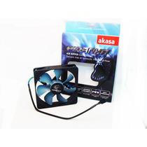 Cooler Fan Ventoinha Akasa Piranha 12cm 12v Gabinete Gamer ·