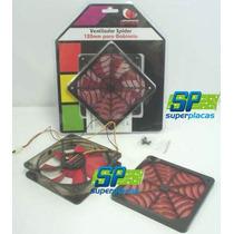 Cooler Fan Ventilador Spider 12x12x 2,5cm Filtro Anti Poeira