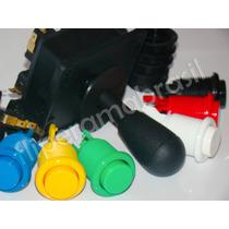 Controle Arcade Kit Fliper Comando+10 Botões Nylon +parafuso