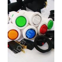 Kit Arcade 10 Botões Acrílico+1comando+1placa Usb/ps3/play2