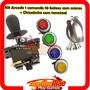 Kit Arcade 10 Botões Acrilico+ Comando + Chicotinho