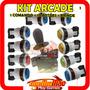 Kit Arcade 10 Botões Acrilico Monte Em Play 3 , Play2, Pc