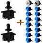 Kit Arcade / Fliperama 2 Players Blue - 2 Comando 16 Botões