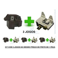 Relé Ptc E Protetor Térmico Geladeira/freezer 3 Peças