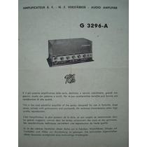 Manual Do Amplificador Geloso G 3296-a.