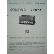 Manual Do Amplificador Geloso G 3227-a.
