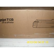 Plotter Hp T120 24pol 61cm A1 P/ Plotagem + 4 Cartu Recarreg