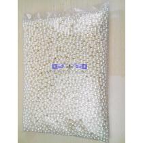 Perolas Abs Branca 10mm Furo Pacote 500g