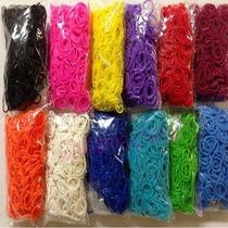 Rainbow Loom - Pct 100 Elásticos Coloridos (várias Cores)