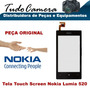 Tela Vidro Frontal Lente Visor+ Touch Screen Nokia Lumia 520