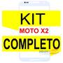 Vidro Moto X2 1097/98 Branco+ Kit Remoção+ Cola Uv+ Ferramen
