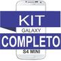 Tela Vidro Galaxy S4 Mini Branco, Kit Rem., Cola Uv, Estufa
