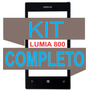 Vidro Tela Visor Lcd Dispay Lumia 800 + Kit Completo