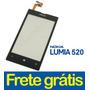 Tela Touch Vidro Lente Nokia Lumia 520 Original
