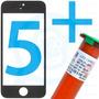 Tela Vidro Lente Iphone 5 5c 5s + Cola Uv + Dupla Face 3m