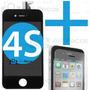 Tela Touch Display Lcd Iphone 4s Original + Pelicula Vidro