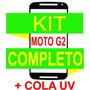Tela Vidro Moto Visor G2 Xt1068 Xt1069+ Kit Remoção+ Cola Uv
