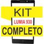 Tela Vidro Visor Nokia Lumia 930 + Kit Remoçao + Cola Uv