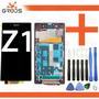 Tela Display Lcd Aro Sony Xperia Z1 + Chave + Pelicula Vidro