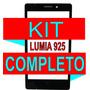 Vidro Tela Visor Nokia Lumia 925 Preto + Kit Completo
