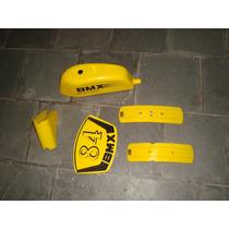 Conjunto Monark Bmx Tanquinho Kits Com 5 Peças Adesivados