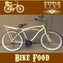 Food Bike Retrô - Bicicleta Aro 26 Vintage Carga Cargueira