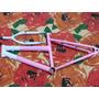 Quadro Aro 16 De Aço Branco E Rosa Wendy Bike