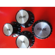 Top Hat Knobs Preto Prata - Kit De 4 - Novo