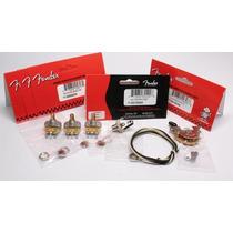 Kit Fender Strato Potenciometros / Jack / Chave Seletora
