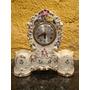 Antigo Relógio De Mesa Em Porcelana - R 0278